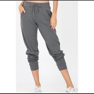Soft, thick Gray Jogger/Sweatpants. XL New!